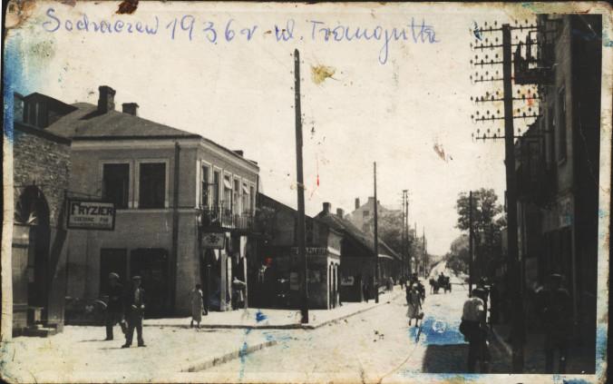 Ulica Traugutta w roku 1936 (fotografia ze zbiorów Roberta Niemiry)